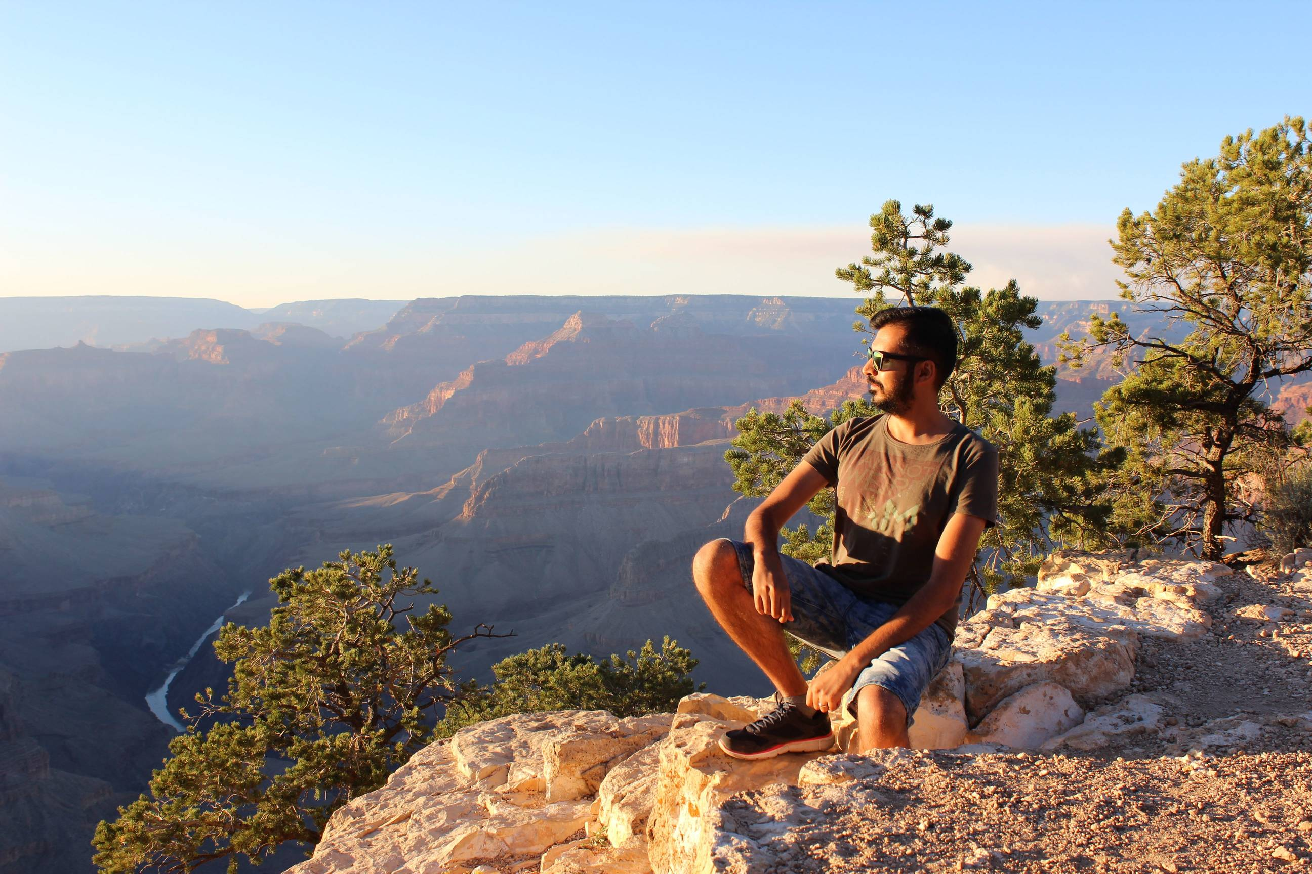 Garry enjoying the sunset at Grand Canyon